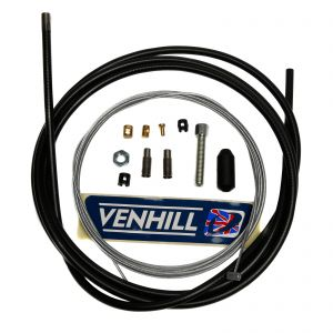 Venhill Universal Motorcycle 2.35m Clutch Cable Kit - Black