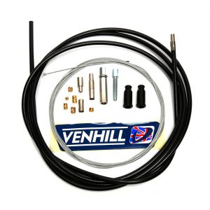 Venhill Universal 2.35m Throttle Cable - 6mm Outer - Black