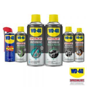 WD40 Chain Lube, Cleaner, Polish, Silicone Shine, Brake Cleaner, Original Lube
