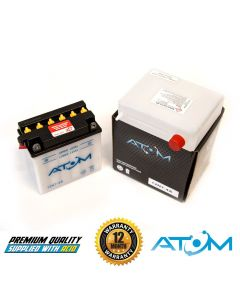 12N7-4A - Atom Wet-Cell Motorcycle Battery 12V 8Ah