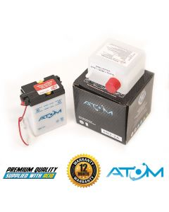 6N2-2A Atom VRLA Motorcycle Battery 6V 2Ah