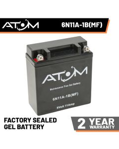 Atom Advanced 6N11A-1B Gel Motorcycle Battery