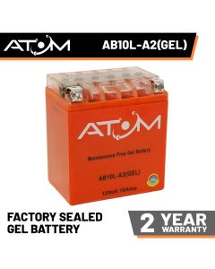 Atom Advanced AB10L-A2 Gel Motorcycle Battery