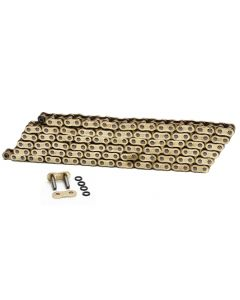 Choho 525 x 110 Heavy Duty Gold/Gold O-Ring Motorcycle Drive Chain With Link