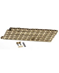 Choho 525 x 114 Heavy Duty Gold/Gold X-Ring Motorcycle Drive Chain With Link