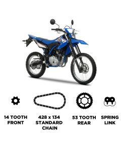 D.I.D Chain and JT Carbon Steel Sprocket Kit for Yamaha WR 125 R 2009-2016