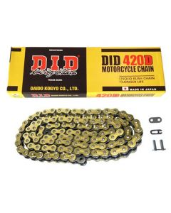DID 420Dx106 Gold/Black Motorcycle Chain With Split Link