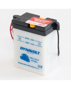 6N2-2A-8 Dynavolt VRLA Motorcycle Battery 6V 2Ah