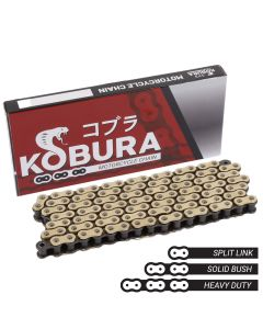 Kobura 428x124 - Heavy Duty Drive Chain Gold/Black
