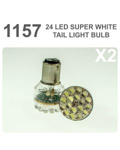 Replacement 380/1157 24 White LED Tail, Brake, Interior Light Bulb x2