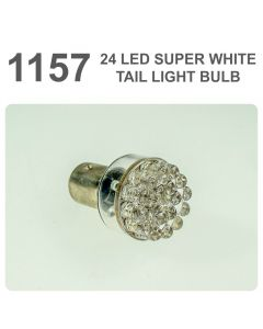 Replacement 380/1157 24 White LED Tail, Brake, Interior Light Bulb