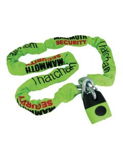 Mammoth Thatcham Approved 12mmx1.8m Motorcycle Scooter Chain with Shackle Lock