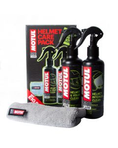 Motul Helmet Care Kit and Microfibre Cloth