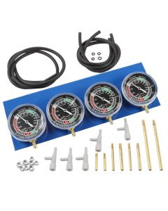Motorcycle Carburettor Vacuum Balancer Synchronizer Gauge 2/4 Cylinder Kit