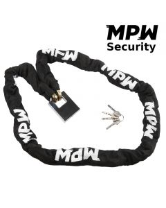 MPW Heavy Duty Motorcycle Scooter Security Chain & Silver Padlock - 1.5M
