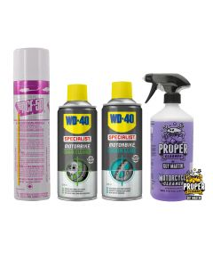 Commuter Motorcycle Cleaning and Protection Kit - ACF-50,Proper Cleaner,WD40
