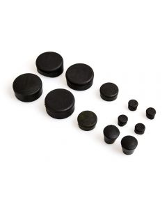 12 Piece Black Rubber Frame Plug Set for Suzuki GSX-R1000 2007-2008