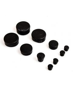 10 Piece Black Rubber Frame Plug Set for Suzuki GSX-R600/750 2006-2010