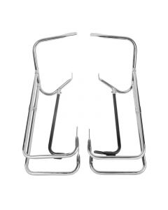 Chrome Twin Rail Saddlebag Crash Bar Guard for Harley-Davidson Touring Models