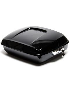 Gloss Black Chopped Tour Pak Top Box Luggage For Harley Davidson Touring 14-18