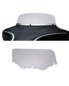 8'' Grey Motorcycle Windshield For Harley-Davidson Touring Models