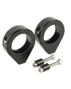 Black 39mm Fork Clamp Indicator Turn Signal Relocation Clamp For Harley Davidson