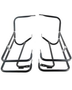 Black Twin Rail Saddlebag Crash Bar Guard for Harley-Davidson Touring Models 97-08