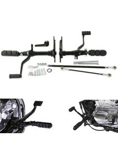 Black Forward Controls Linkage Set for Harley Sportster XL 883 1200 91-03