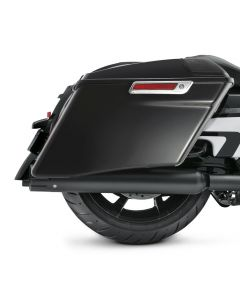 Gloss Black 4'' CVO Extended Stretched Hard Saddlebags Luggage Harley Davidson Touring 14-20