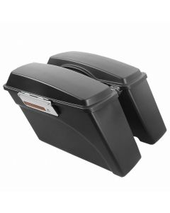 Matte Black Hard Saddlebags Luggage For Harley Davidson Touring 94-13