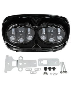5-3/4'' Black LED Headlight Projector Lamp For Harley Road Glides1998-2013