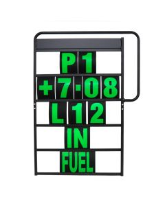 MPW Race Dept 100cm x 65cm 5 Row Pit Board & Green Number Kit