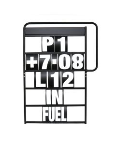 MPW Race Dept 100cm x 65cm 5 Row Pit Board & White Number Kit