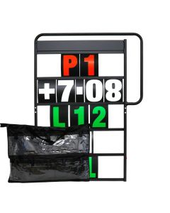 MPW Race Dept 100cm x 65cm 5 Row Pit Board with Numbers & Carry Bag