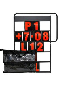 MPW Race Dept 100cm x 65cm Complete 5 Row Pit Board Kit - Red