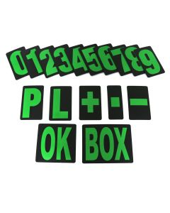 MPW Race Dept Extra Large Pit Board Number Set in Green