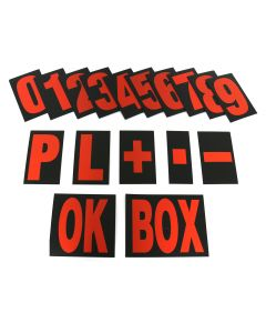 MPW Race Dept Extra Large Pit Board Number Set in Red