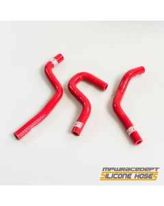 Honda CR80, CR85 MPW Race Dept 3 Piece Silicone Hose Kit Red