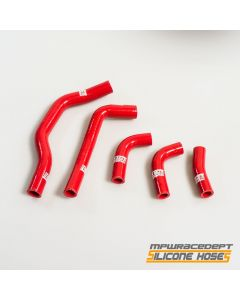 Honda CRF450 2005-2008 MPW Race Dept 5 Piece Silicone Hose Kit Red