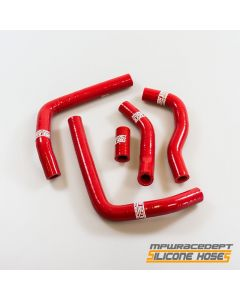 Honda CR125 2005-2008 MPW Race Dept 5 Piece Silicone Hose Kit Red