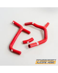 Honda CRF450 2009-2012 MPW Race Dept 3 Piece Silicone Hose Kit Red - Race Fit