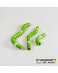Kawasaki KX65 2000-2009 MPW Race Dept 3 Piece Silicone Hose Kit Green