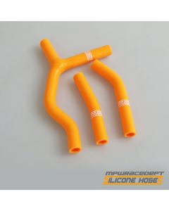 KTM 125SX, 200SX 2003-2006 MPW Race Dept 3 Piece Silicone Hose Kit Orange