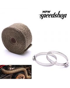 10m Black Lava Motorcycle Exhaust Header Pipe Heat Shield Wrap