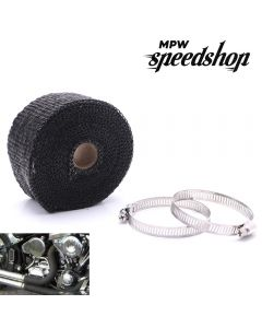 10m Titanium Lava Motorcycle Exhaust Header Pipe Heat Shield Wrap