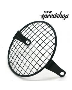 5.75 Inch Retro Custom Motorcycle Headlight Mesh Grill - Square