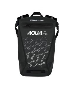 Oxford Aqua V20 Waterproof Reflective 20 Litre Motorcycle Backpack - Black