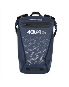 Oxford Aqua V20 Waterproof Reflective 20 Litre Motorcycle Backpack - Navy
