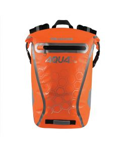 Oxford Aqua V20 Waterproof Reflective 20 Litre Motorcycle Backpack - Orange