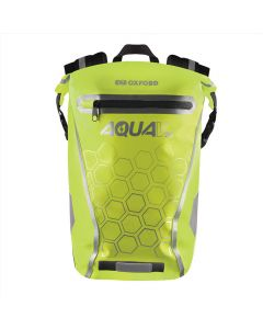 Oxford Aqua V20 Waterproof Reflective 20 Litre Motorcycle Backpack - Fluo Yellow